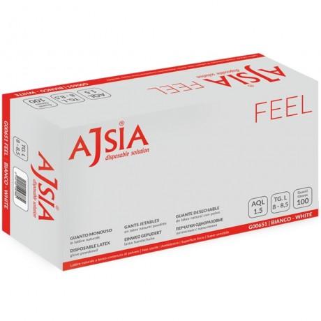 Manusi de unica folosinta Ajsia Feel pudrate 0.10mm 100 bucati marimea M