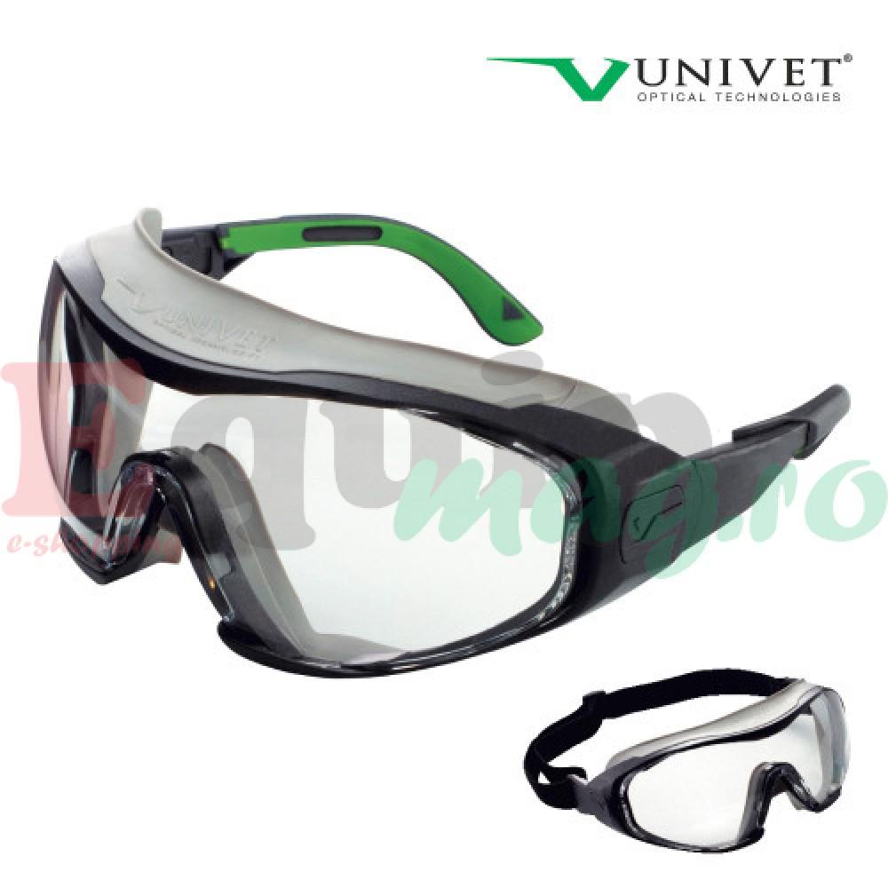 Ochelari de protectie cu lentila incolora si aerisire directa Univet