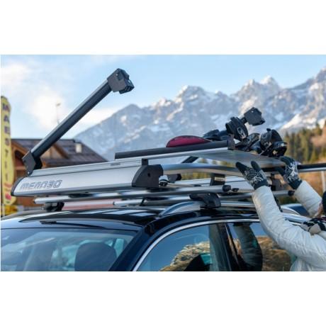 Suport auto schiuri si placa pentru bare transversale Menabo Yelo