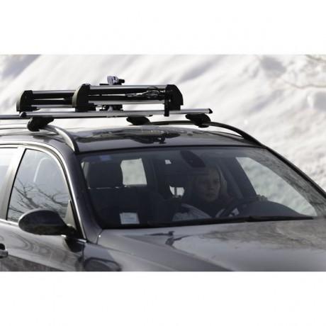 Suport schiuri si placa auto pentru bare transversale Menabo Frozen Plus