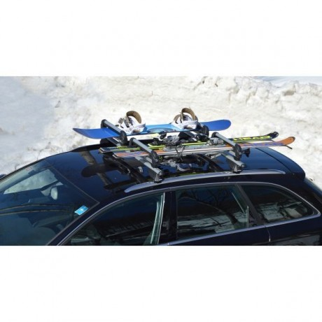 Suport pentru schiuri si placa pentru bare transversale Menabo Iceberg Double